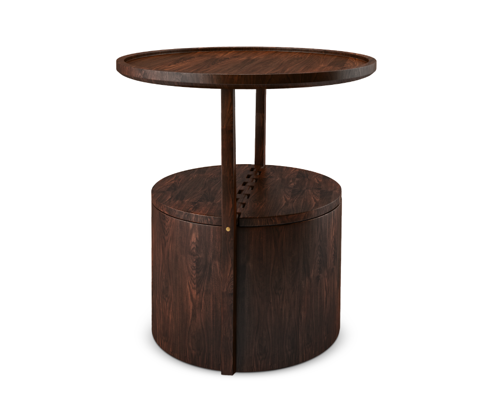 Burton solid wood side table