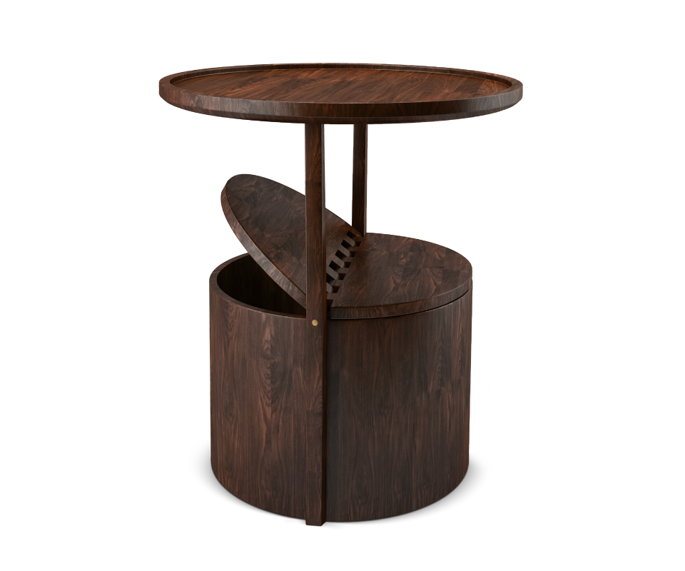Burton solid wood side table