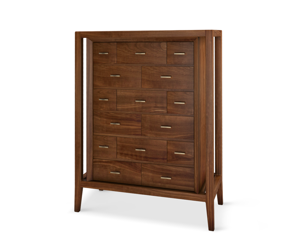 Caxton Chest of Drawers with Aged brushed brass details