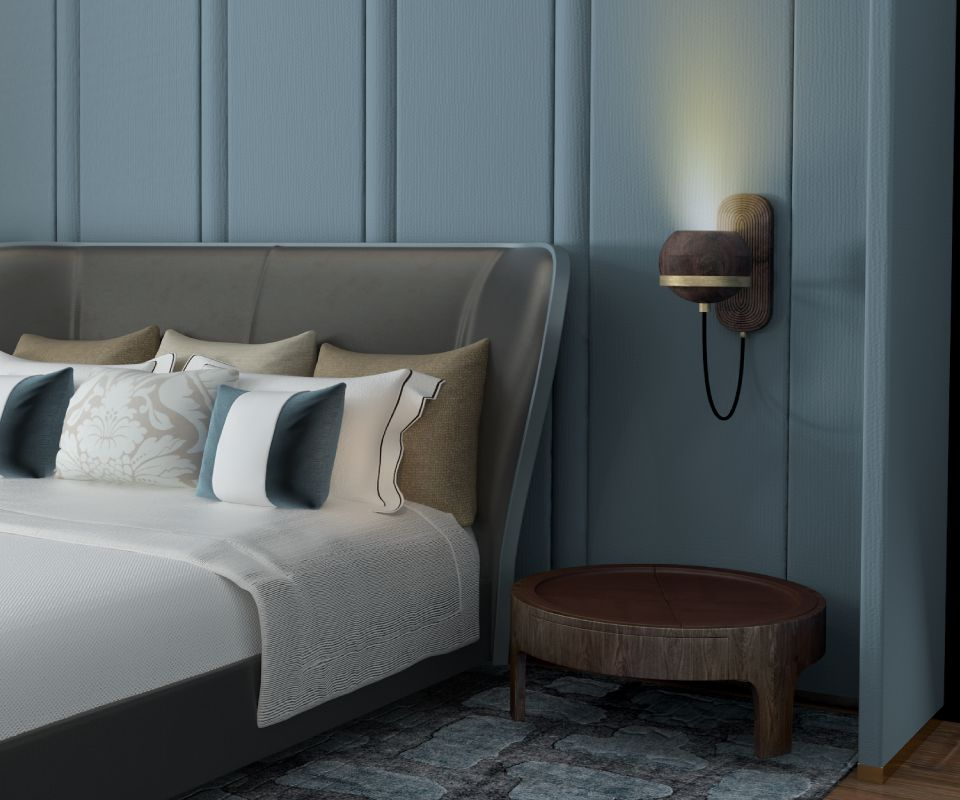 Churchill Nightstand in a bedroom