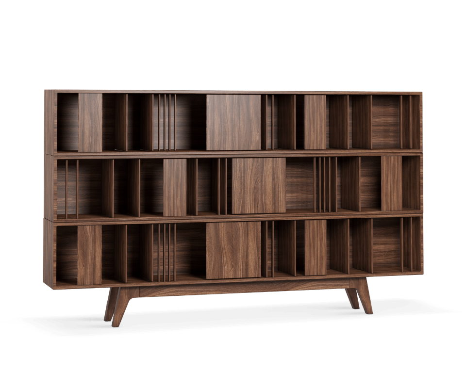 Classic Blue Color Woodworth bookcase 1