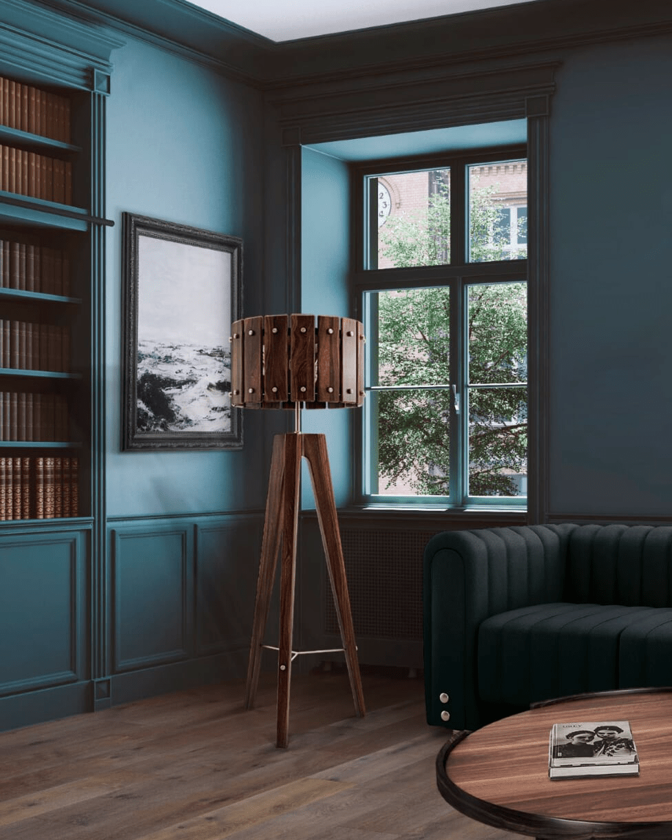 Classic Blue Color-Charles floor lamp