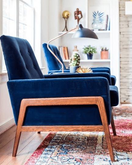 Classic Blue Pantone- Armchair
