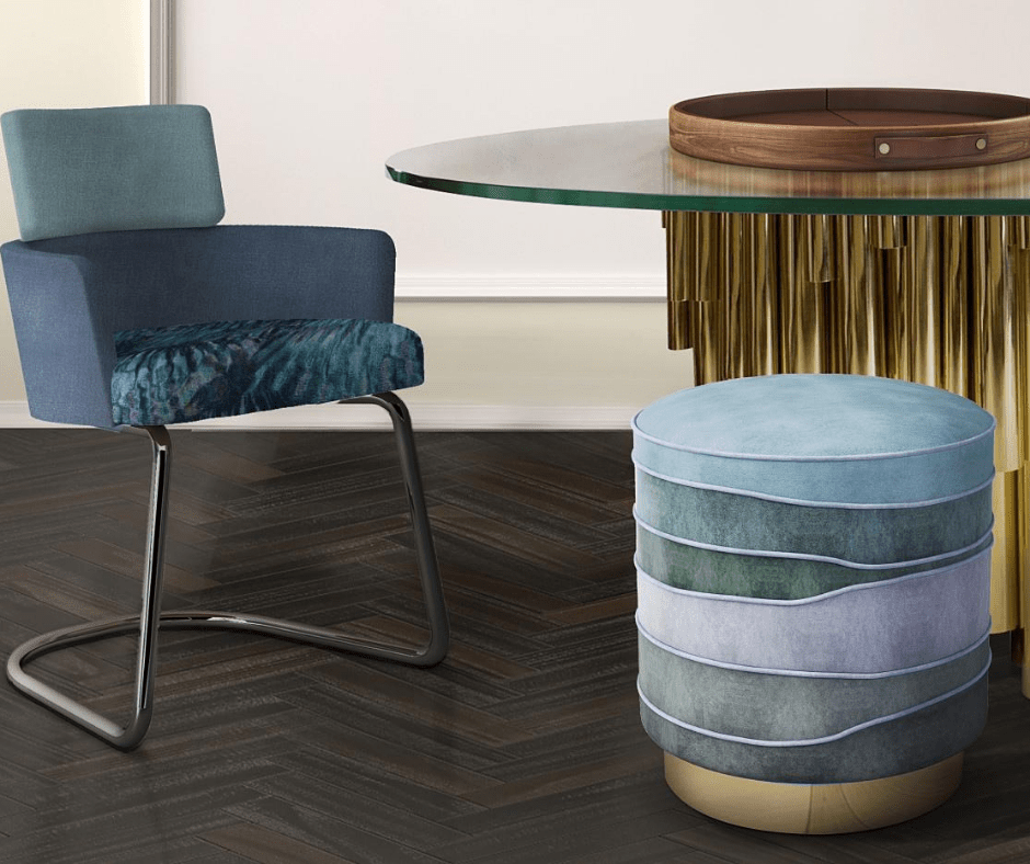 Color Stool Ideas- Dining room