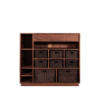 Elgar Shelf handcrafted walnut wood