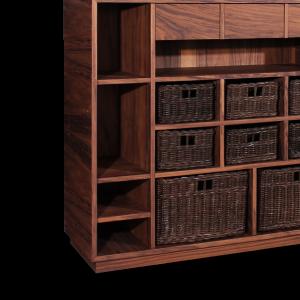 Elgar Shelf handcrafted walnut wood