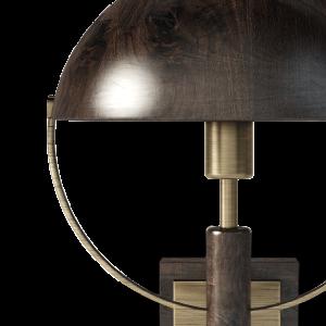 Faraday Wall Lamp in dark and smoked walnut wood