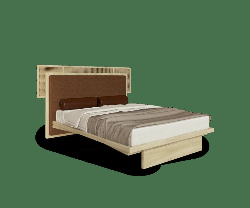 Forbes Bed in Oak