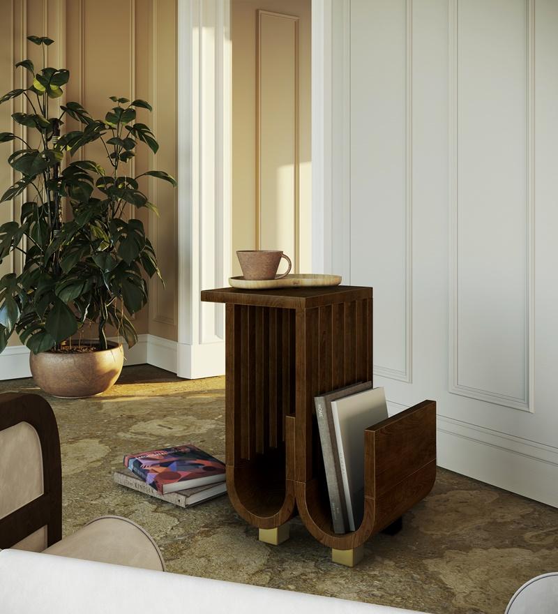 Goschen Wooden Side Table