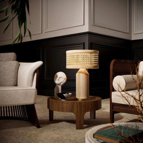 Hamilton Rattan Table Lamp