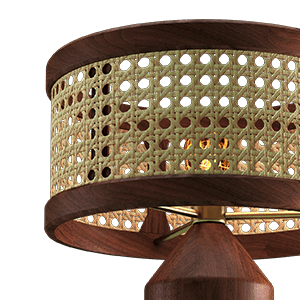 Hamilton Table Lamp made in Walnut Wood