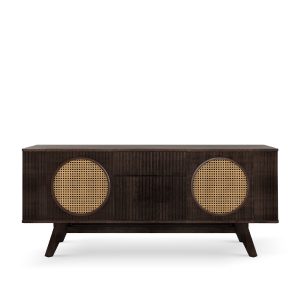 Harrison sideboard with Rattan details