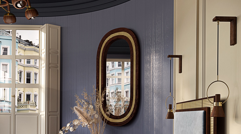 Hudson Rattan Mirror