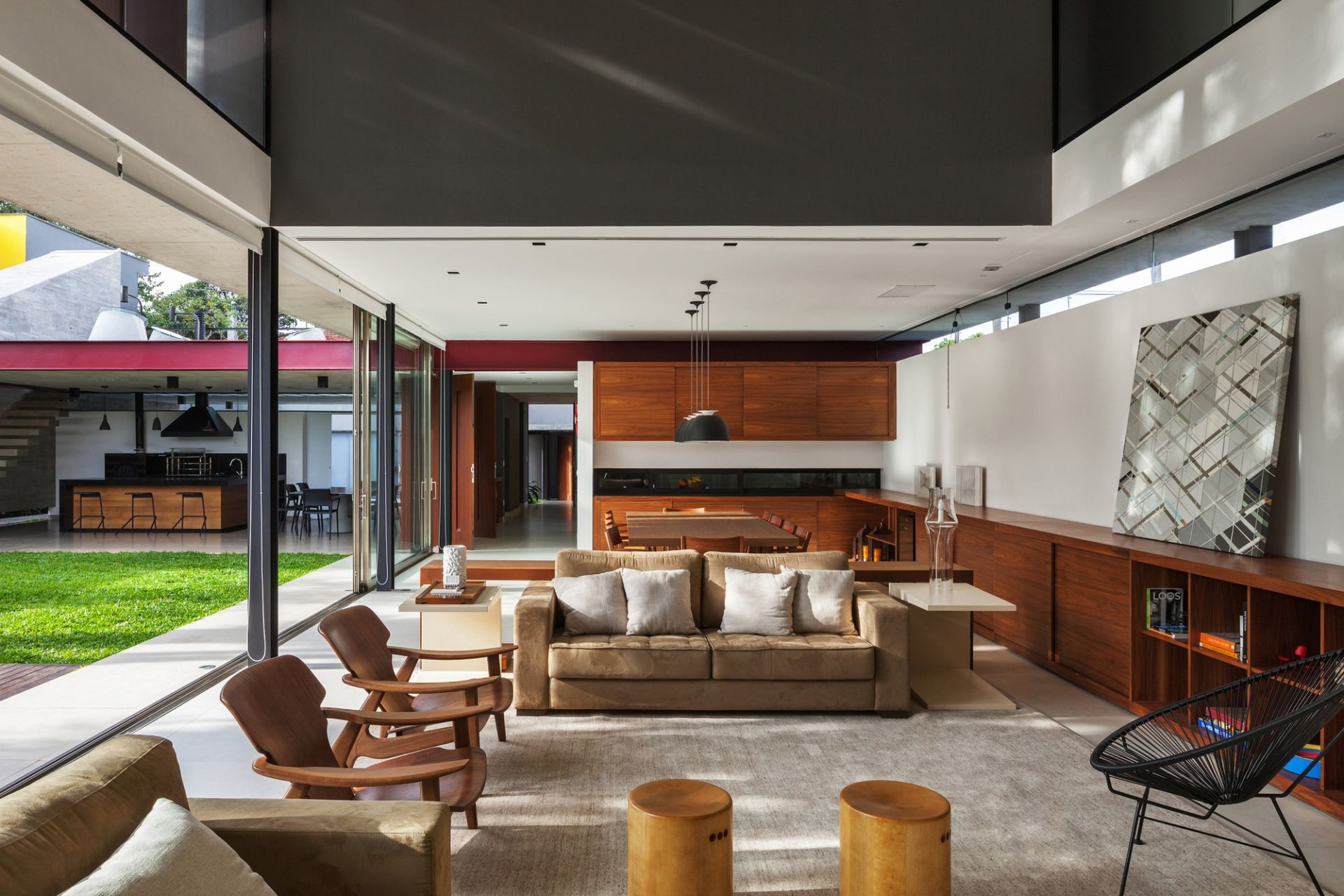 Living room and dining room integrated