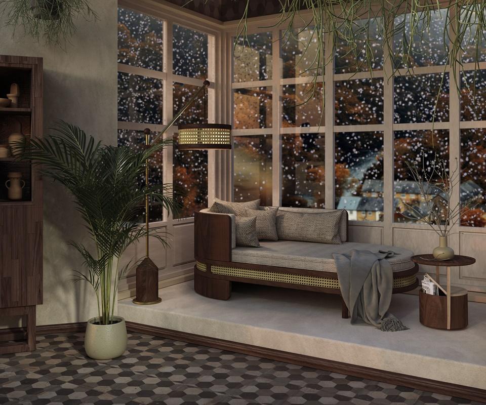 Winter Garden - Brooks Chaise Longue