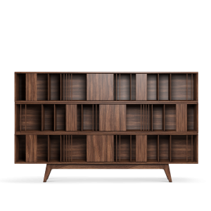 Wordsworth Bookcase in noble walnut wood