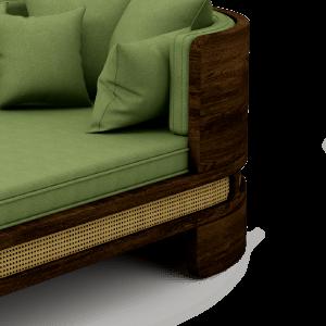 Brooks Chaise Longue Green Linen
