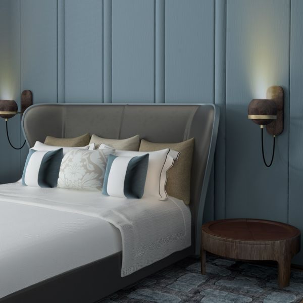 Bedroom Decor | Fleming Wall Lamp and Churchill Nightstand