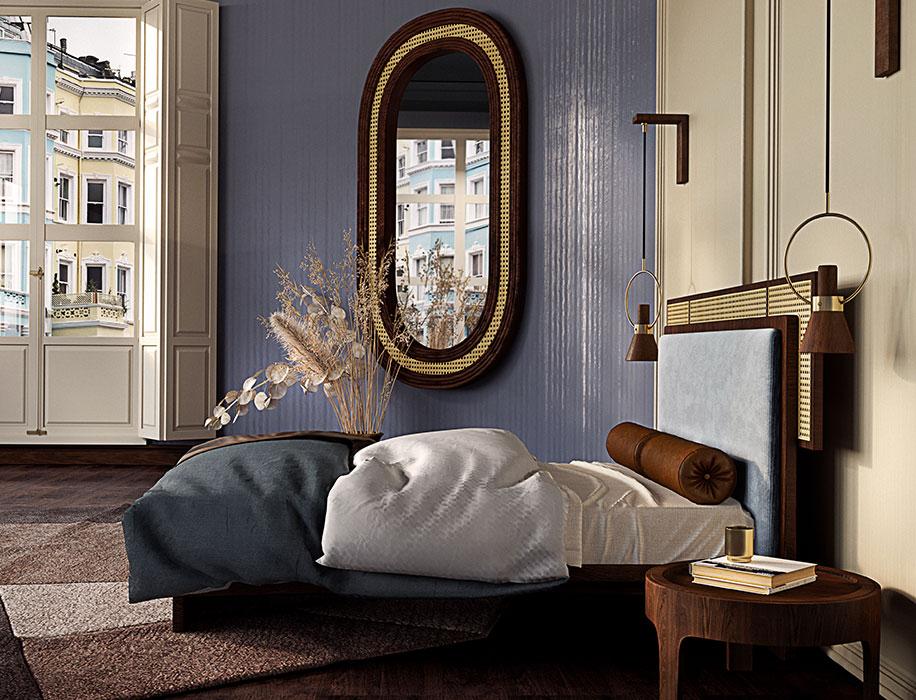 Set A Warm Bedroom: Add Rattan Furnishing