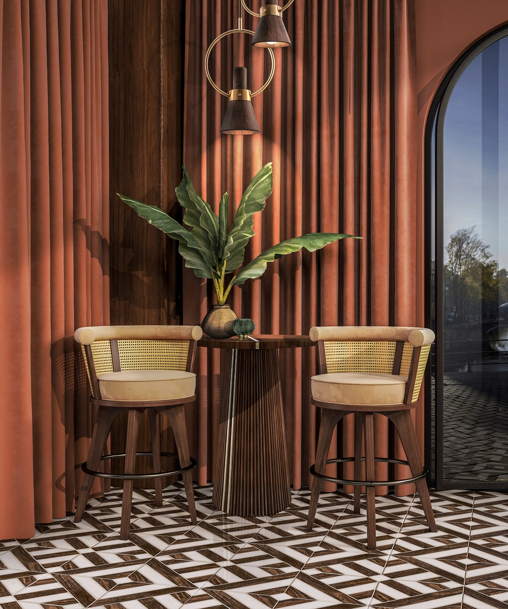 Bar Decor | George Rattan Bar Stool