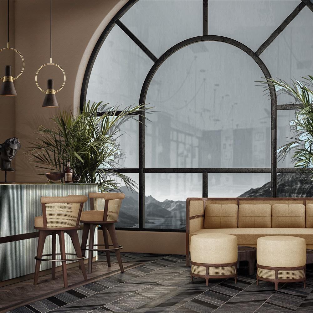 George Rattan Bar Chair
