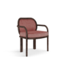 James Dining Chair in red and white Twirl fabric
