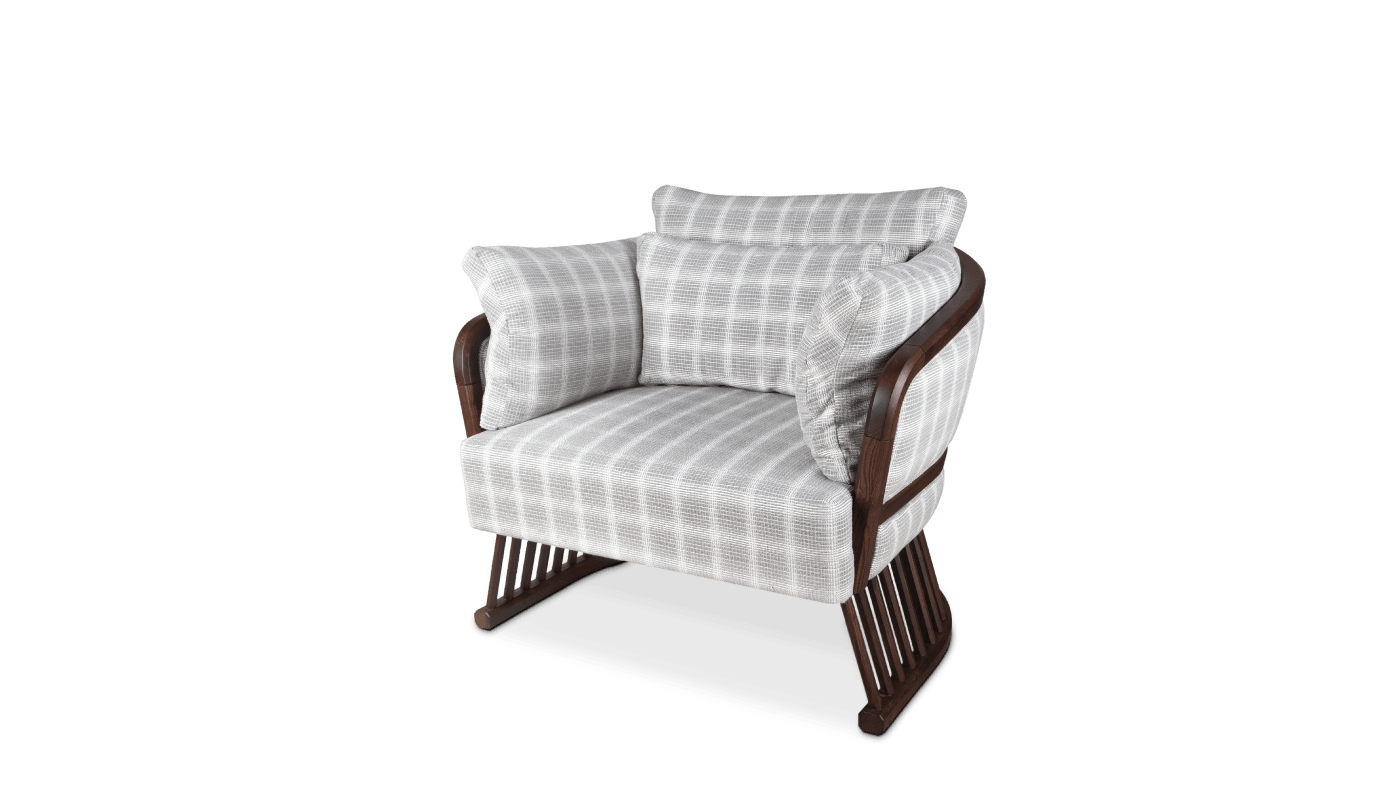 Johnson Armchair in linen