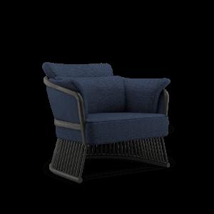 Johnson Armchair in blue linen