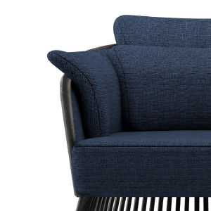 Johnson Armchair in blue linen