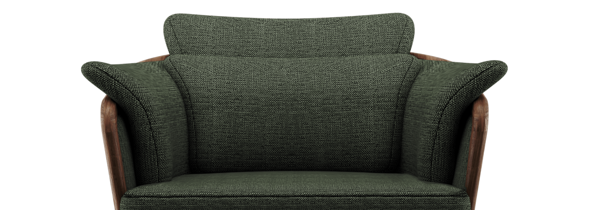 Johnson Armchair in green linen