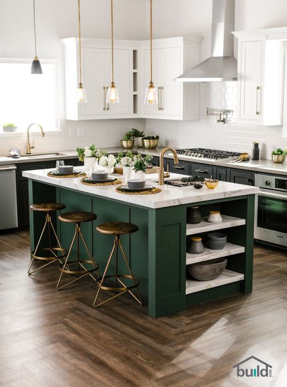 kitchen-forest-green-color-trend