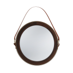 Reynolds Mirror handcrafted in walnut wood with genuine leather and brass