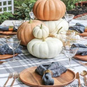 thanksgiving pumpkin decor idea