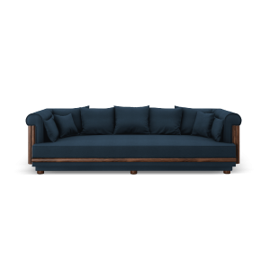 Conway Sofa in Blue Linen
