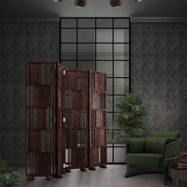 Wordsworth Wooden Folding Screen