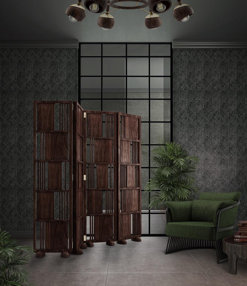 Wordsworth Wooden Folding Screen
